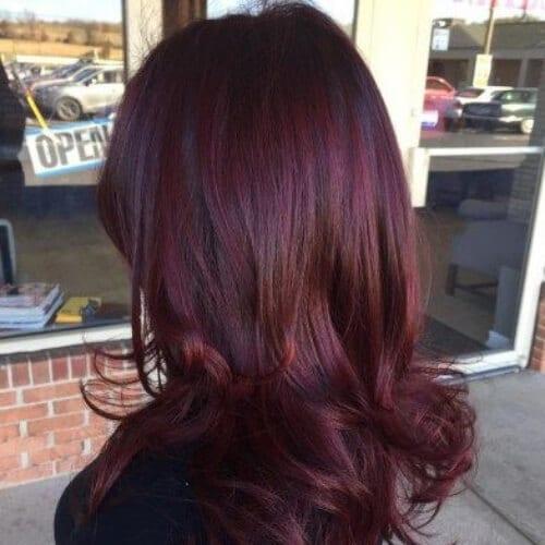 maroon burgundy hair
