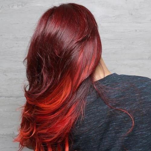 red burgundy hair