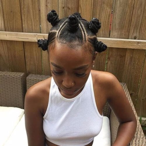 bantu knots and braids