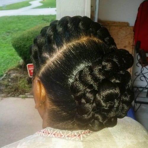 bun goddess braids
