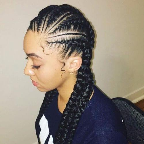 long goddess braids