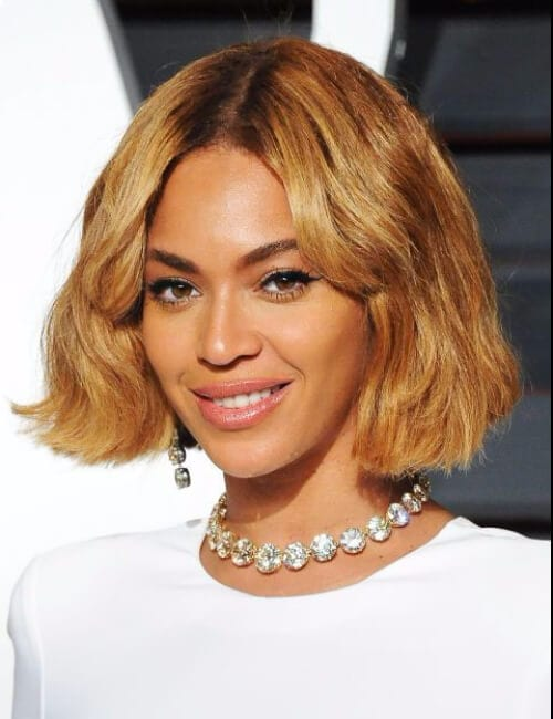 beyonce blunt blonde bob short hairtsyles for black women