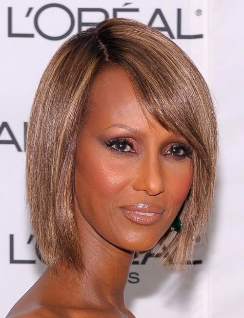 iman short hairstyles for black women