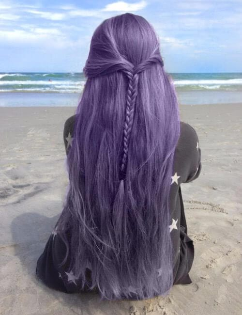 lavender long purple hair