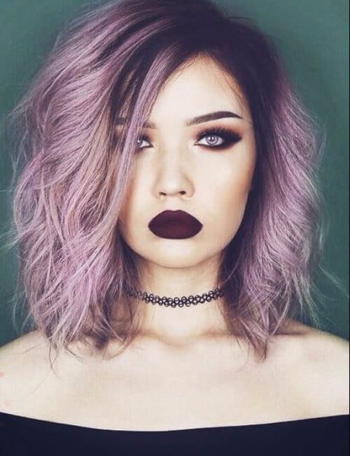 pastel grunge purple hair