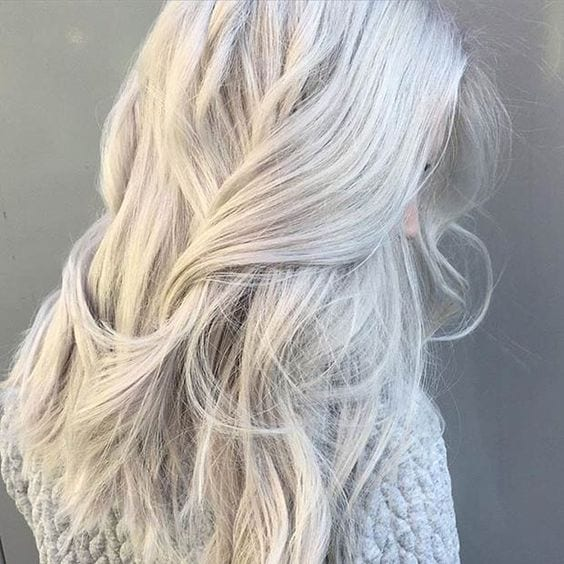 white grey hair