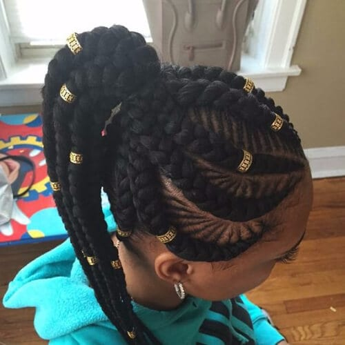 embellished ghana braids