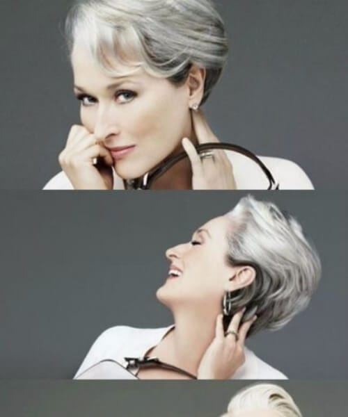 hairstyles for women over 50 the devil wears prada meryl streep