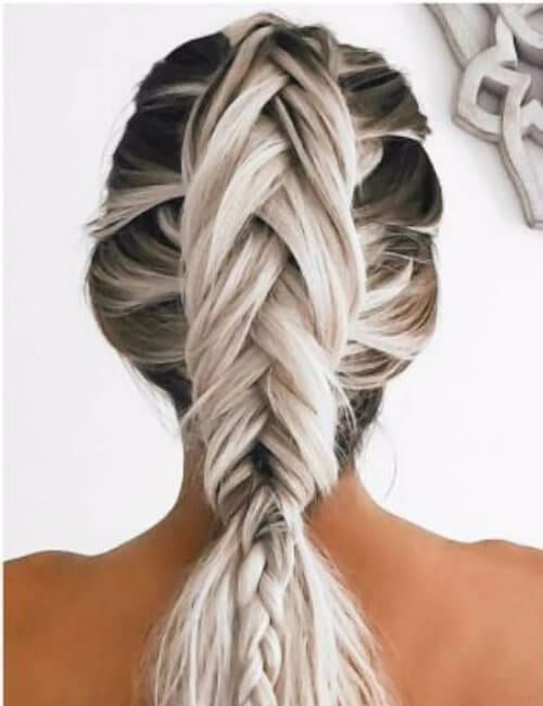 luminous rise hoops updos for long hair