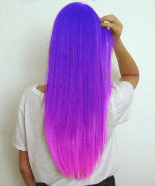neon purple ombre hair