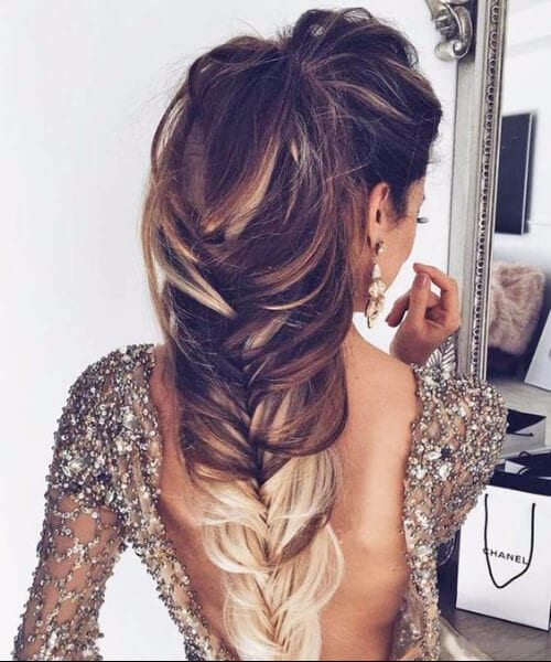 ombre fishtail homecoming hairstyles