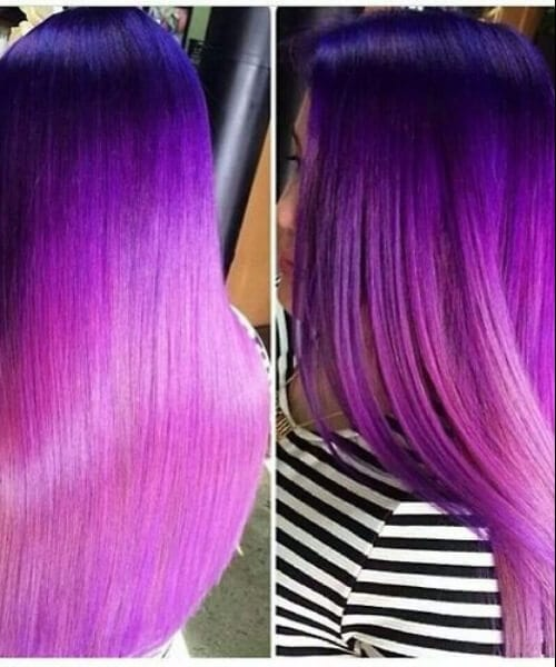 purple ombre hair