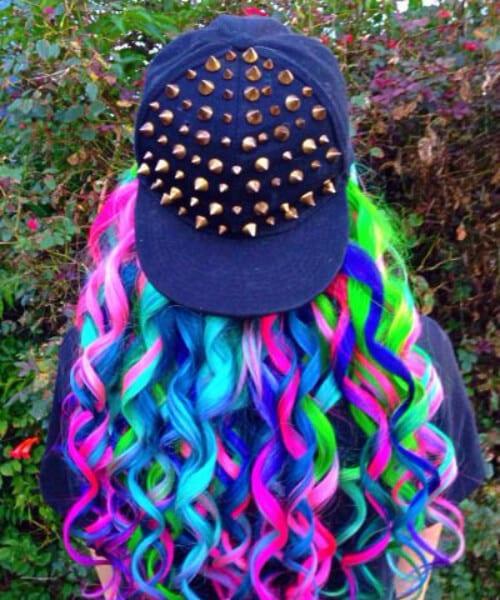 street style mermaid hair