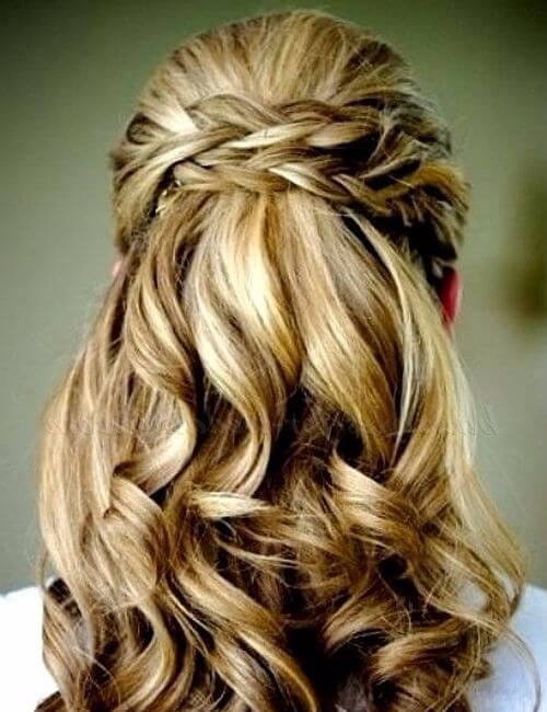 wedding hairstyles half up half down updos for long hair