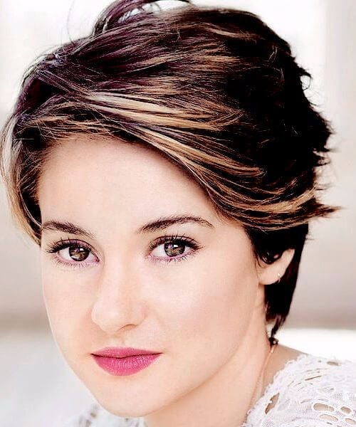 Shailene Woodley updos for short hair ombre