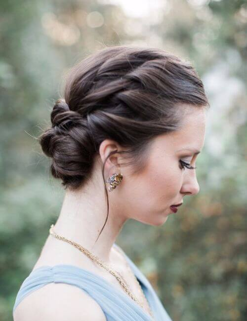 bridesmaids hairstyles twisted updo