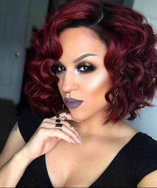 curly bob sew in hairstyles