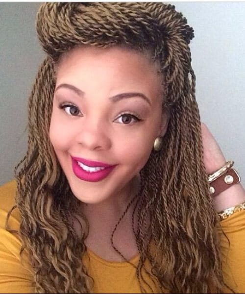 honey blonde senegalese twist