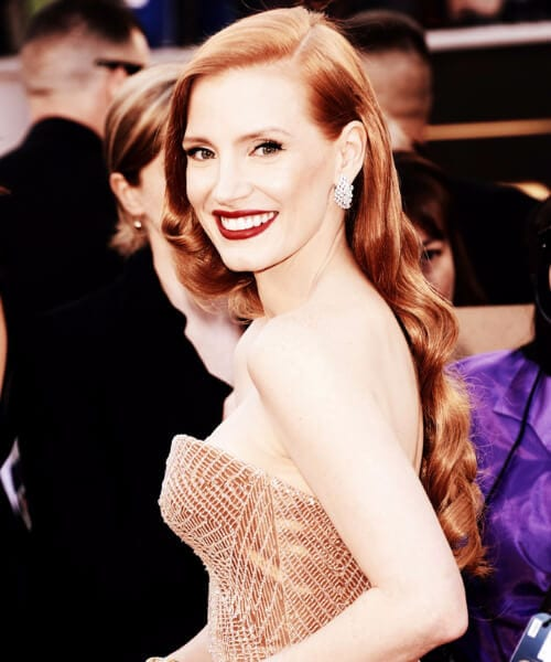 jessica chastain prom updos