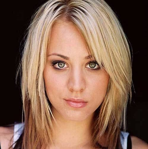 kaley cuoco haircuts for round faces
