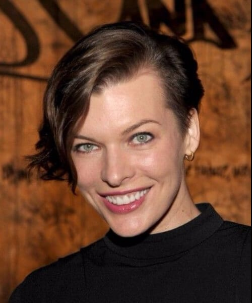 mila jovovich updos for shor hair