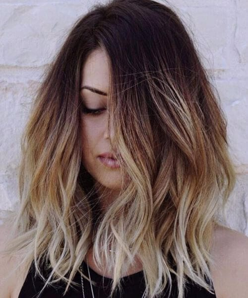 ombre shag haircut