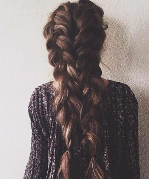 oversized braids prom updos