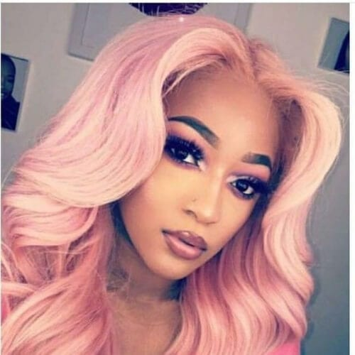 pink sew in hairstyles
