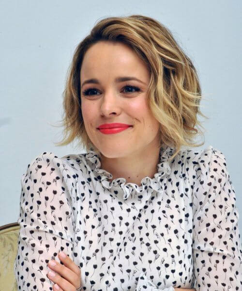 rachel mcadams updos for short hair