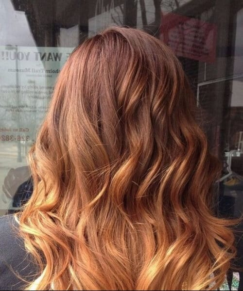cinnamon to blonde ombre hair
