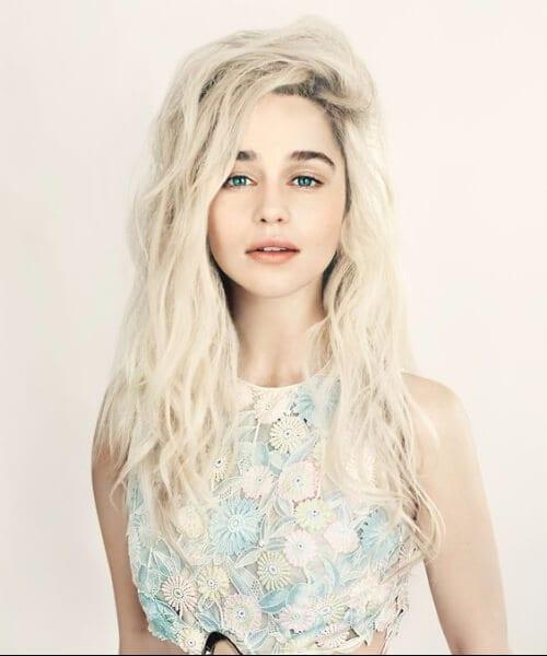 emilia clarke blonde hair