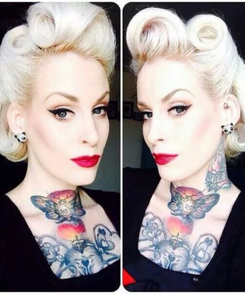 ice blonde pin up hairstyles