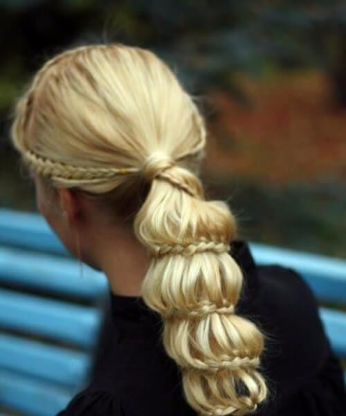 intricate ponytail long hairstyles