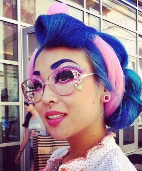 matching eyebrows pin up hairstyles