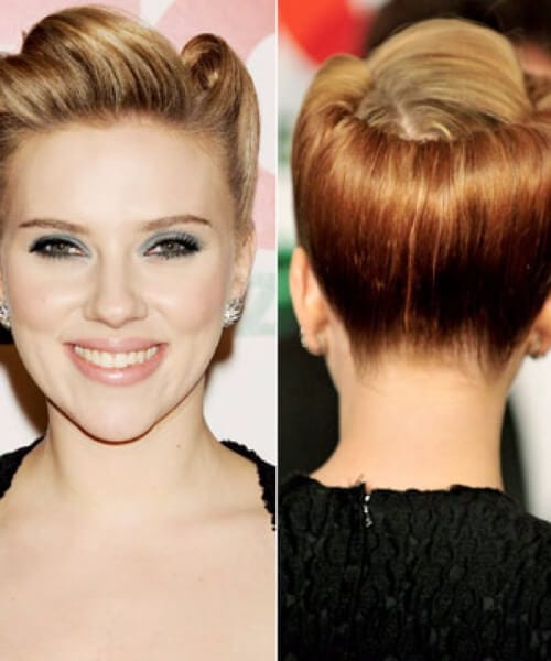 scarlet johansson pin up hairstyles