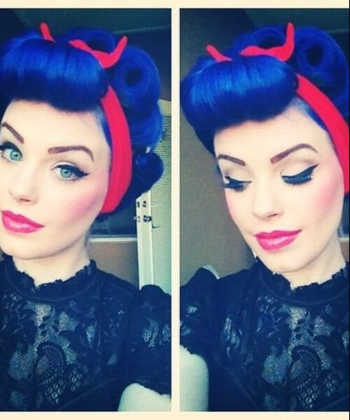 snow white pin up hairstyles