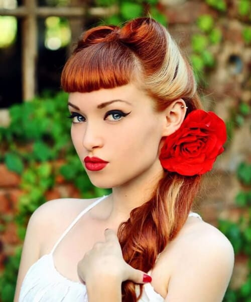 two toned pin up hairstyles