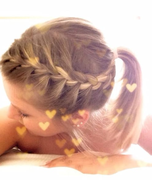 french braids and ponytail little girl hairstyles