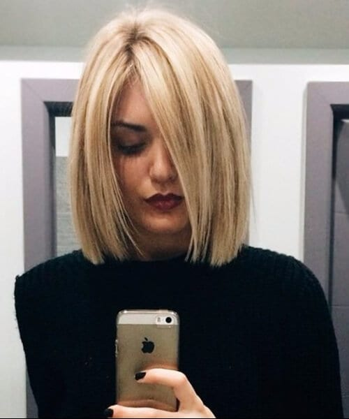 cool shoulder length bob