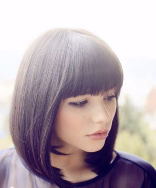 inverted shoulder length bob