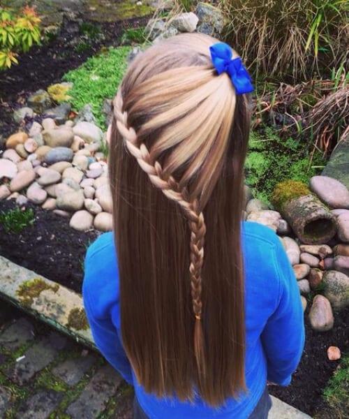lace braid The Arrow Head little girl hairstyles