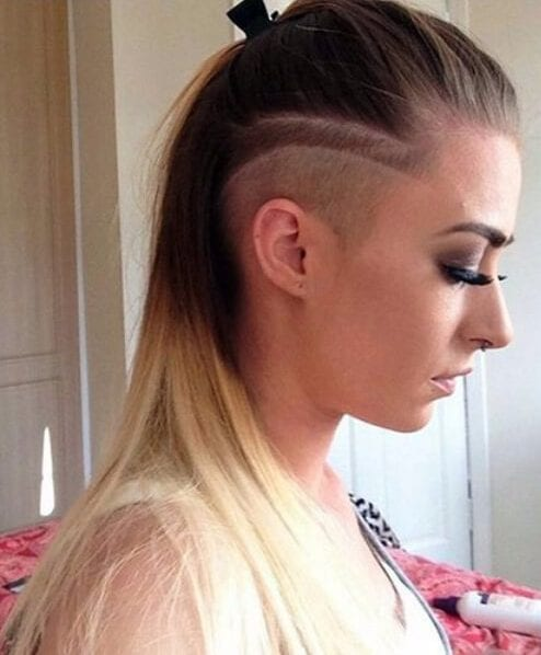 long and undercut hairstyles for thin hair
