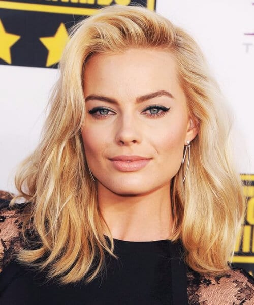 margot robbie shoulder length bob