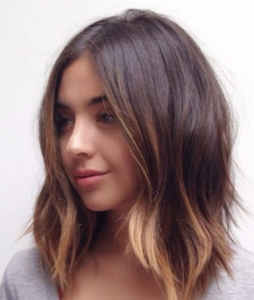 ombre shoulder length bob