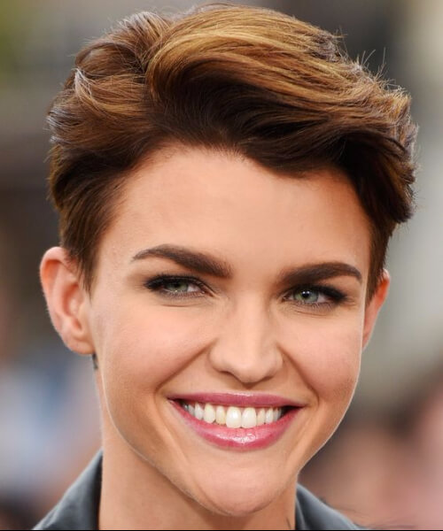 ruby rose long pixie cut