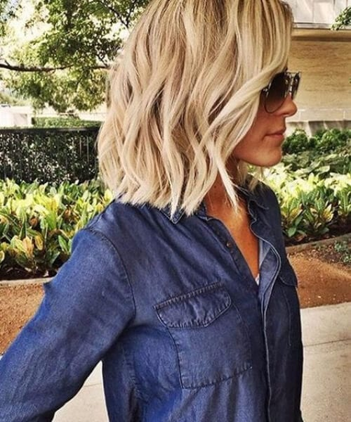 textured shoulder length bob