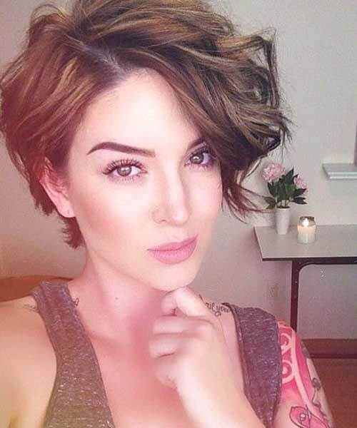 wavy long pixie cut