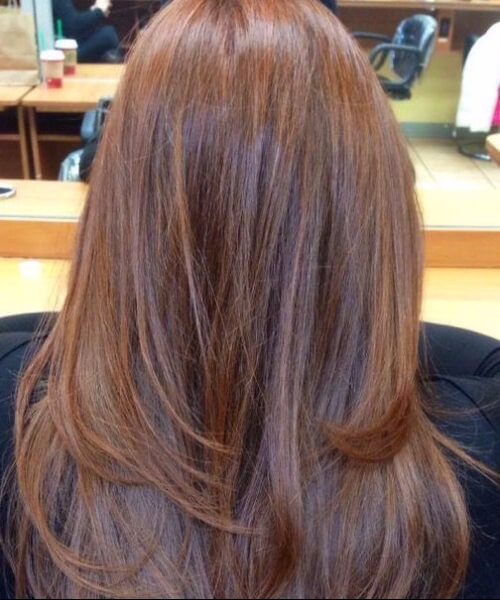 Long Round Layers layered haircuts