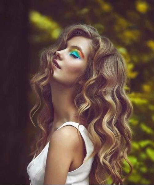 boho balayage hair color