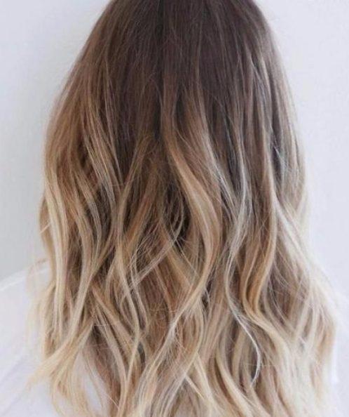 brass blonde balayage hair color